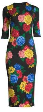 Delora Floral Fitted Dress