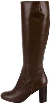 Max Mara Leather Capua Knee-High Boots