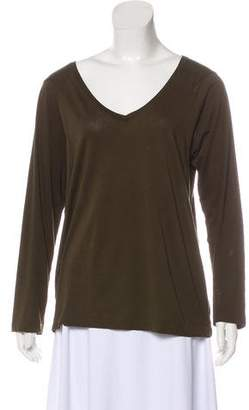 Dries Van Noten Long Sleeve V-Neck Top
