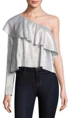 LIKELY Davey Metallic One Shoulder Top