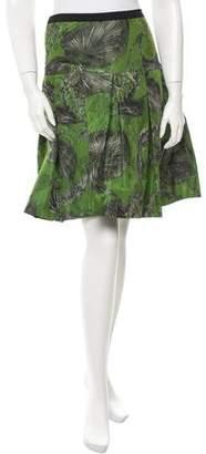 Oscar de la Renta Embroidered Patterned Skirt