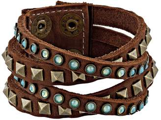Leather Rock B340 Bracelet