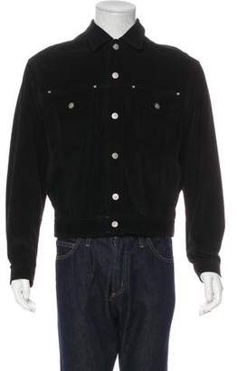 Versace Suede Trucker Jacket