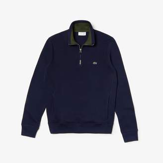 Lacoste Men's Zip Ribbed Interlock Sweatshirt