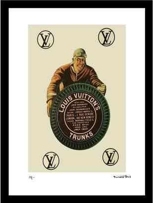 Fashion Flash Pilot Vintage Louis Vuitton ad by Fairchild Paris (Framed)