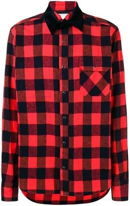 Sacai check long-sleeve shirt