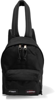 Vetements - Eastpak Canvas Backpack - Black $570 thestylecure.com