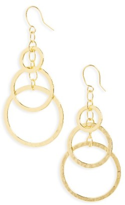Women's Argento Vivo Circle Drop Earrings $45 thestylecure.com