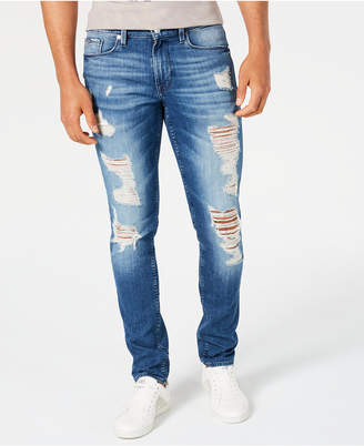 GUESS Men Slim-Fit Morocco Ripped Jeans