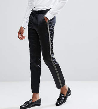 Asos TALL Skinny Suit Pants In Metallic Gold