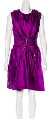 Marc Jacobs Silk Ruched Dress w/ Tags Violet Silk Ruched Dress w/ Tags