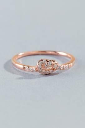 francesca's Vera Cubic Zirconia Knot Ring - Rose/Gold