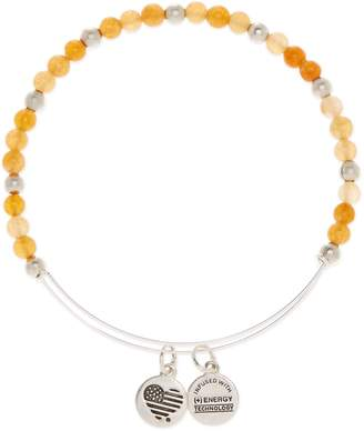 Alex and Ani Color Classics Marigold Beaded Extendable Wire Bangle