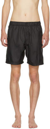 Saturdays NYC Black Trent Solid Swim Shorts