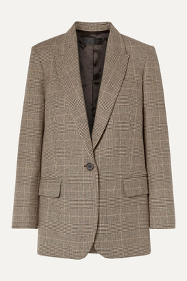 Nili Lotan Diane Prince Of Wales Checked Wool-blend Blazer - Brown