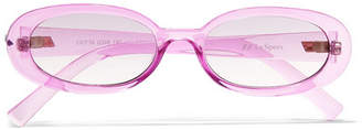 Le Specs Outta Love Oval-frame Acetate Sunglasses - Purple