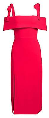ML Monique Lhuillier Women's Tie Shoulder Sheath Dress