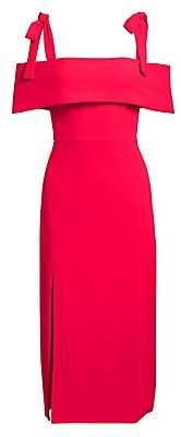 ML Monique Lhuillier Women's Tie Shoulder Sheath Dress - Size 0