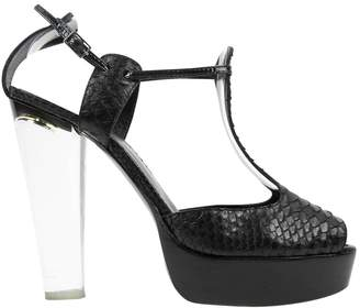 Sonia Rykiel Black Python Heels