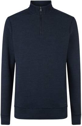 HUGO BOSS Textured Half Zip Sweater