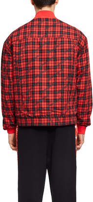 Opening Ceremony Denim Plaid Reversible Jacket