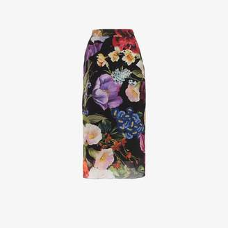 Dolce & Gabbana floral print stretch-silk pencil skirt