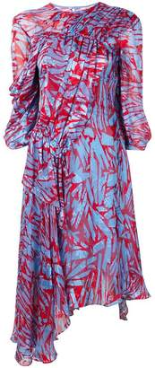 Preen by Thornton Bregazzi abstract print gathered dress
