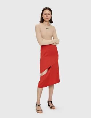 Maison Margiela Satin Cutout Skirt