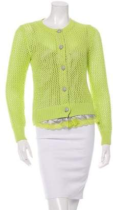 Sacai Luck Open Knit Button-Up Cardigan