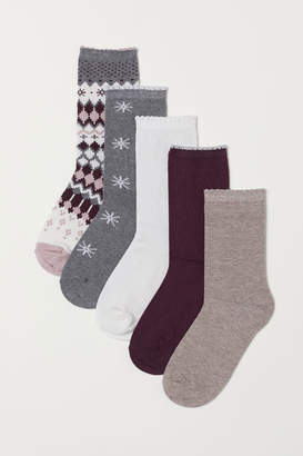 H&M 5-pack Socks - Pink
