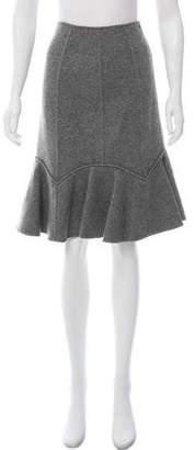 Oscar de la Renta Wool Peplum Skirt