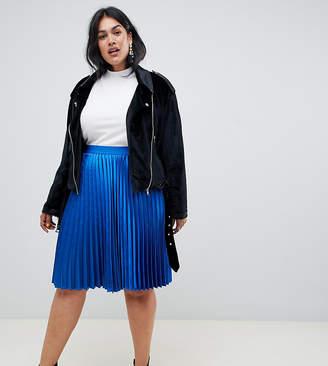 Junarose metallic pleated skirt