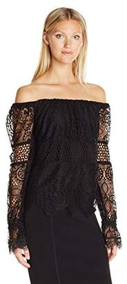 KENDALL + KYLIE Women's Off Shoulder Lace Top