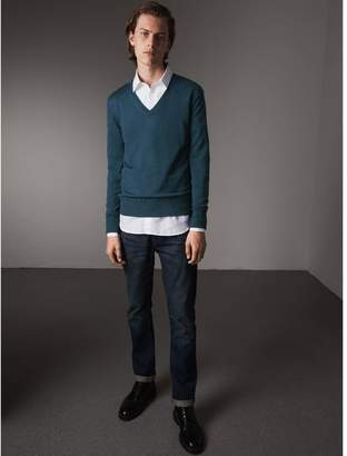 Burberry Merino Wool V-neck Sweater