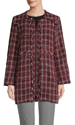 Isaac Mizrahi IMNYC Tweed Zip Jacket
