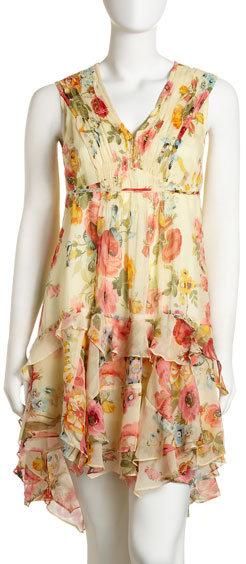 Nanette Lepore Ruffle-Hem Wildflower Dress