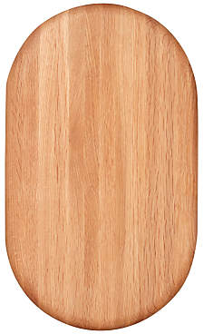 Croft Collection Oval Chunky Oak Wood Chopping Board, Natural