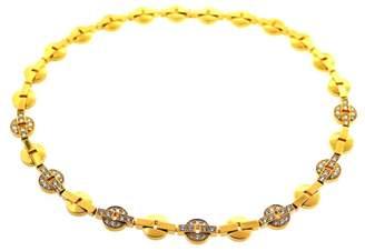 Cartier 18k Yellow Gold Stylish Chic Diamond Chain Necklace