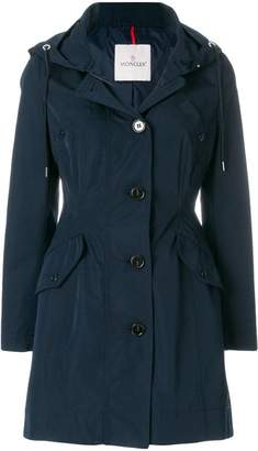Moncler zipped fitted coat