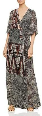 BCBGMAXAZRIA Patchwork Maxi Dress