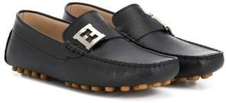 Fendi TEEN logo loafers