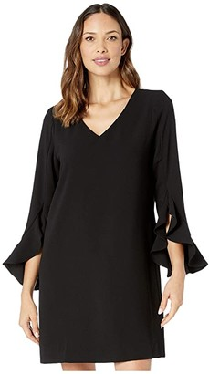 Karen Kane Ruffle Sleeve Dress