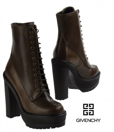 Givenchy pristine (PR Platform Lace-Up Ankle Boots Brown 38.5 - 8