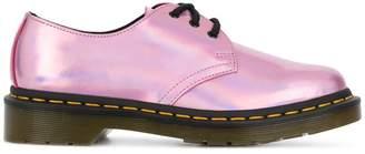 Dr. Martens metallic lace-up shoes