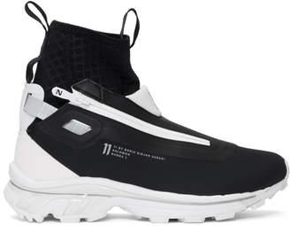 11 By Boris Bidjan Saberi Black and White Salomon Edition Bamba 3 Sneakers