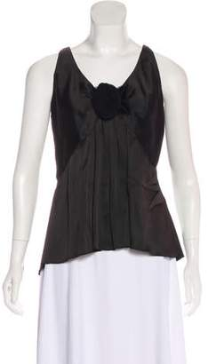 Andrew Gn Sleeveless Satin Top