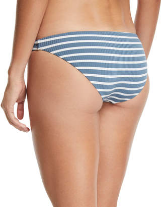 Vitamin A Luciana Full-Coverage Striped Swim Bikini Bottoms