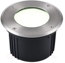 Robuste LED-Bodeneinbauleuchte Aachen rund 16 cm