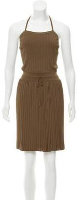 Gucci Plissé Halter Dress w/ Tags