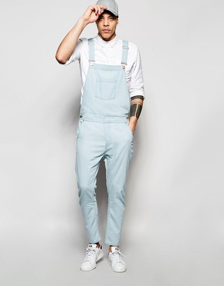 ASOS Denim Overalls In Bow Leg Style $65 thestylecure.com